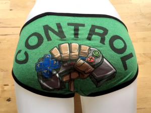 Control Freak: small tee shirt panties by Up & Undies