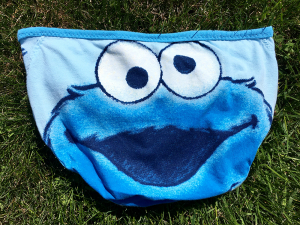 Cookie Monster: extra small Upcycled Handsewn Panties by Up & Undies