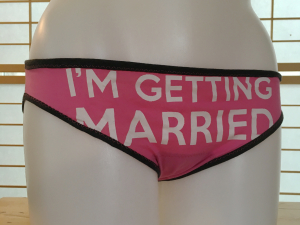 Getting Married: L tee shirt undies by Up & Undies