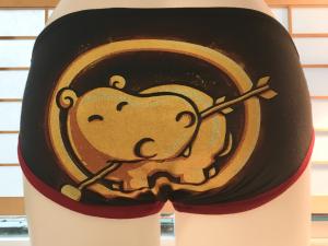 Hippo Cupid: medium undies made from Tshirts by Up & Undies