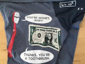 Toothbrush: Large tshirt briefs by Up & Undies